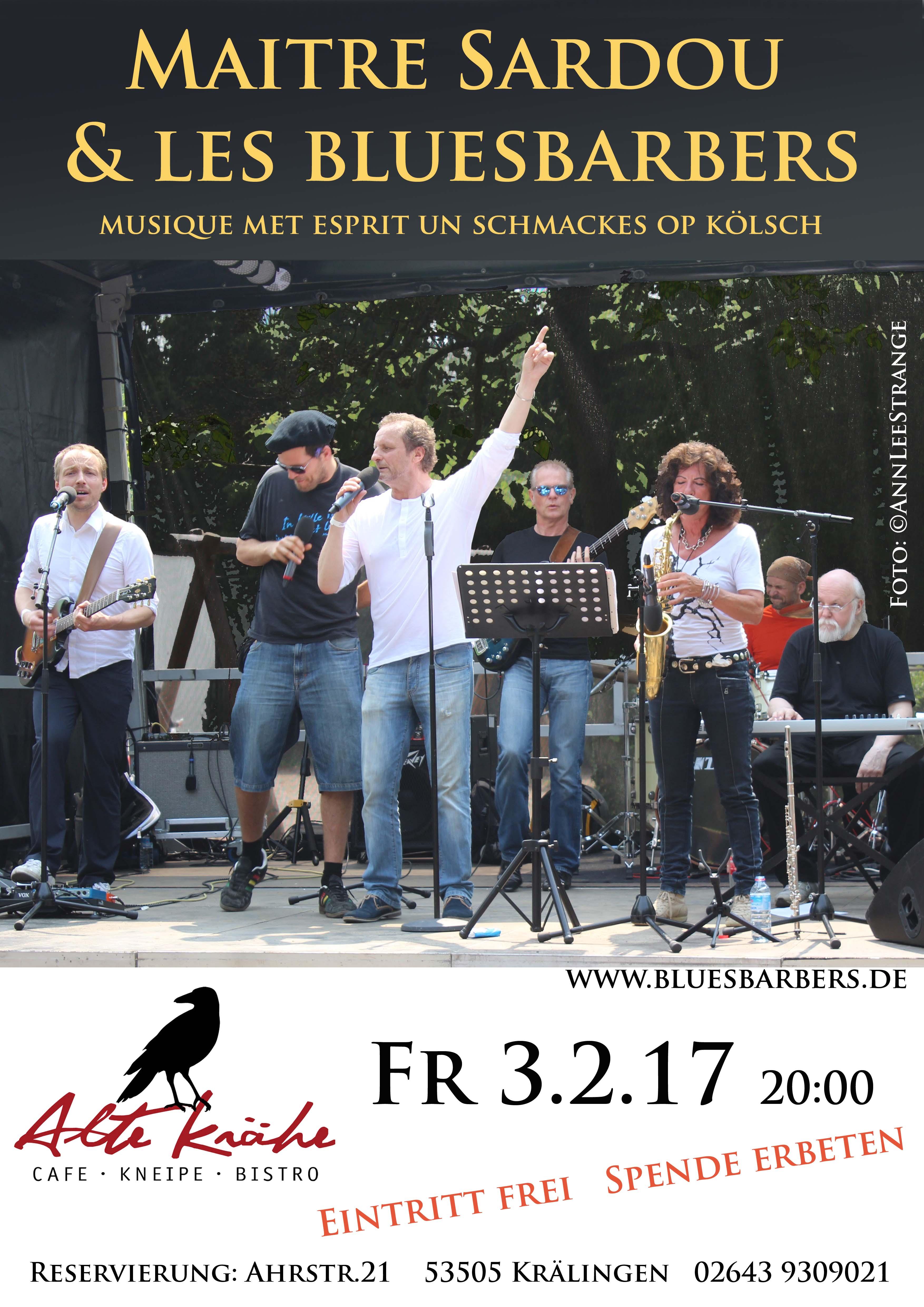 Poster Alte krähe Sardou 3.2.17 A3